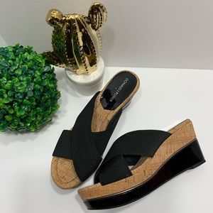 Donald J. Pliner Dani Cork Wedges